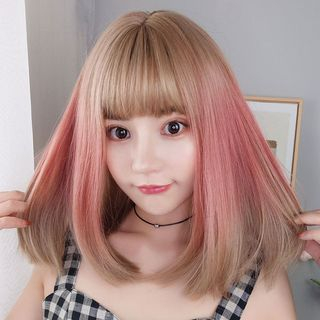 Princess Pea - Medium Full Wig - Straight Gradient Highlight