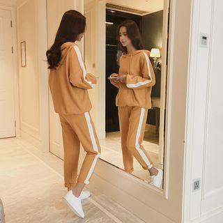 Carmenta - 套裝: 條紋連帽衫 + 運動褲