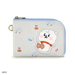 BABOSARANG(バボサラン) - 'BT21' Patterned L-Zip Card Wallet with Sticker