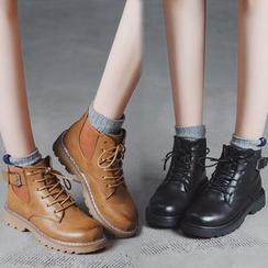 Putcho - Lace-Up Platform Short Boots