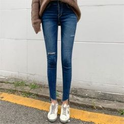 PIPPIN - Slit-Trim Skinny Jeans