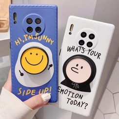 TinyGal - Smiley Stand Phone Case - iPhone 11 Pro Max / 11 Pro / 11 / SE / XS Max / XS / XR / X / SE 2 / 8 / 8 Plus / 7 / 7 Plus