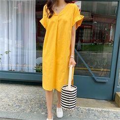 PIPPIN - Frill-Sleeve Shift Dress