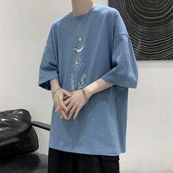 Acrius(アクリウス) - Short-Sleeve Print T-Shirt