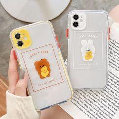 Mobby - 動物印花透明手機保護套 - iPhone 11 Pro Max / 11 Pro / 11 / SE / XS Max / XS / XR / X / SE 2 / 8 / 8 Plus / 7 / 7 Plus