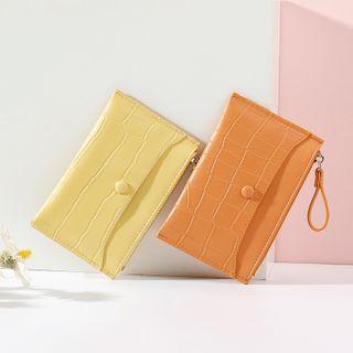 Taomicmic - Plain Faux Leather Card Wallet