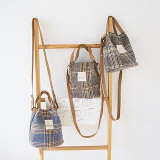 TangTangBags - Plaid Bucket Bag