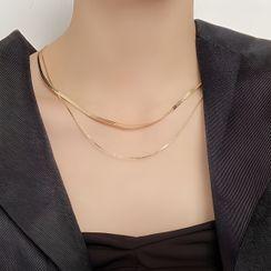 Borscht - Layered Alloy Necklace