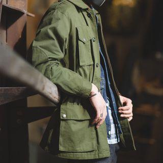 Maden - Embroidered Slim-Cut Cargo Jacket
