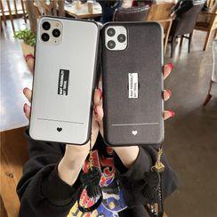 Casei Colour - Lettering Finger Strap Phone Case - iPhone 11 Pro Max / 11 Pro / 11 / XS Max / XS / XR / X / 8 / 8 Plus / 7 / 7 Plus / 6s / 6s Plus