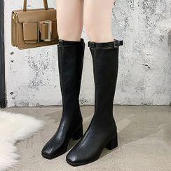 Nikao - Block-Heel Tall Boots