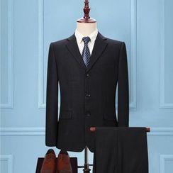 Tsuka - Set: Single-Breasted Blazer + Dress Pants