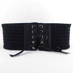 Goldenrod - Lace-Up Elastic Belt