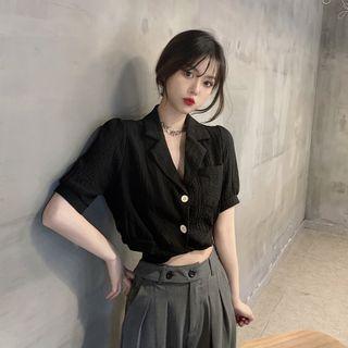 Closette - Short-Sleeve Crop Shirt