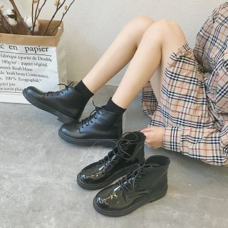 Bolitin - Lace-Up Short Boots