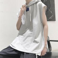 SuperLittle - Sleeveless Applique Hooded Pullover