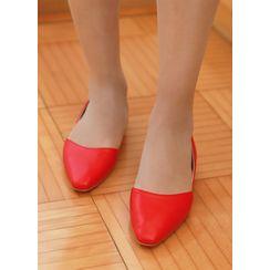 Styleonme - Colored Square-Toe Flats