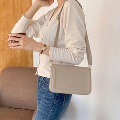 MERONGSHOP - Stitched Flap Shoulder Bag
