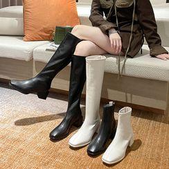 Anjay(アンジェイ) - Block Heel Tall / Short Boots