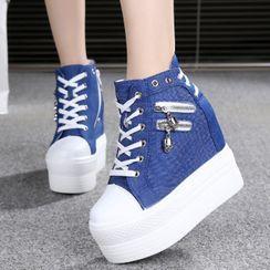 Ordinate Shoes - Hidden Wedge High-Top Sneakers