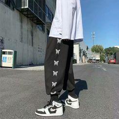 Cowpow - 蝴蝶印花哈伦裤