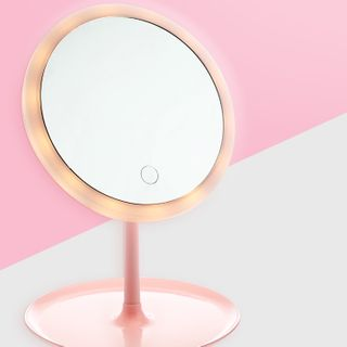 Home Simply - Rechargeable Desktop Mirror with LED Light