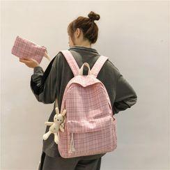 Willow Bloom - 套装:格子背包 + 小袋