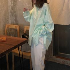 GOUB - Long-Sleeve Plain Shirt
