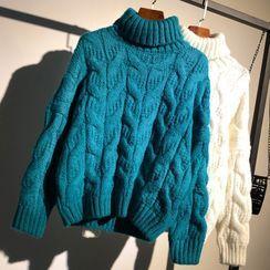 Thandie - 高领麻花针织毛衣