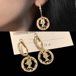 PO!NY STUDIO  - Coin Hoop Earring