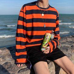 AQUS - Striped Long-Sleeve T-Shirt