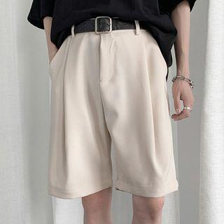 GRAYCIOUS - Plain Straight Leg Shorts
