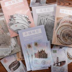 Padeen - 復古印花貼紙 (多款設計)