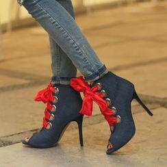 Cinnabelle - High Heel Lace Up Sandals