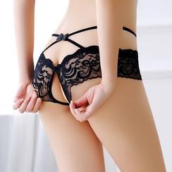 Boanne - Lace Crotchless Panty