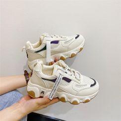 kokoin - Platform Contrast Detail Sneakers
