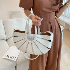 DABAGIRL - Cutout Semicircle Tote with Pouch