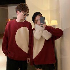 Rhames - Couple Matching Heart Print Sweater