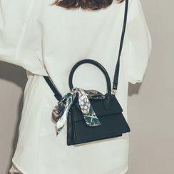 Felicity - 套装: 纯色斜挎包 + 印花围巾
