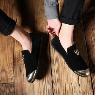 B-Z - Leopard Accent Loafers