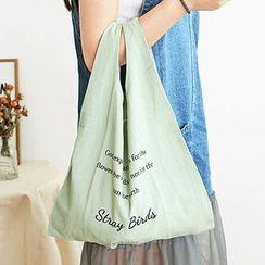 云木良品 - 字母帆布购物袋