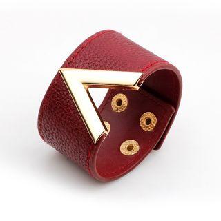 KINNO - Genuine Leather Lettering Bracelet