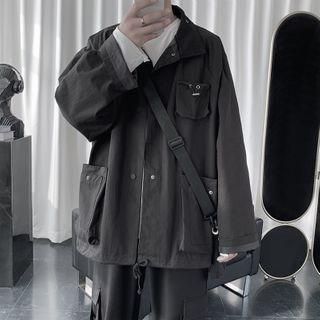 Dukakis - Plain Button-Up Jacket