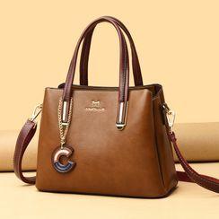Mayanne - Top Handle Genuine Leather Crossbody Bag