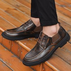 Mobik - Genuine Leather Lace-Up Shoes