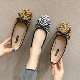 The Shoe House(ザ シューハウス) - Leopard Print Flats