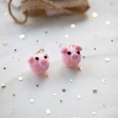 Heliotrope(ヘリオトロープ) - Piggy Drop Earring
