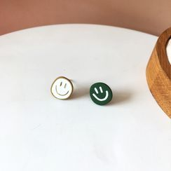 Isle of Green - Smiley Face Earring / Clip-On Earring