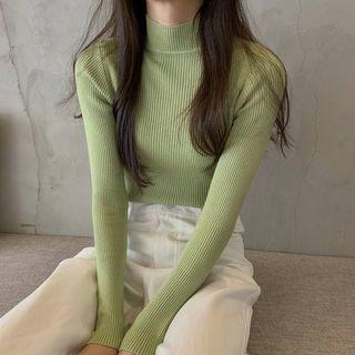 Maido - Mock Turtleneck Long-Sleeve Knit Top