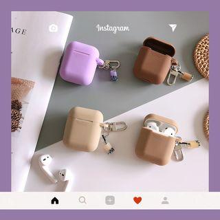 Edgin - 净色奶茶小扣Airpods耳机耳机保护套